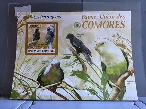 Comoro Islands 2009 Parroquets Birds mint never hinged stamps sheet R24105