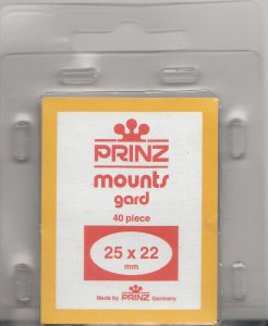 PRINZ 25X22 (40) CLEAR MOUNTS RETAIL PRICE $3.99
