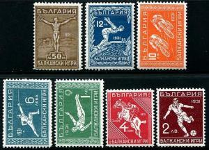 HERRICKSTAMP BULGARIA Sc.# 237-43 Sports Mint NH Stamps