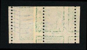 GENUINE SCOTT #443 USED 1914 COIL PASTE-UP PAIR PSE CERT GRADED VF-80