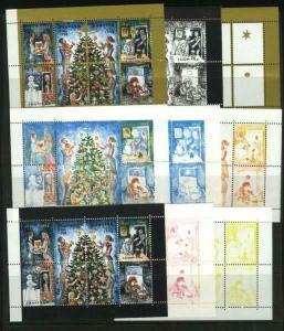 Denmark. Christmas Seal 1993. Set Booklet Sheets Scale/Proof,Mnh. Perforated.