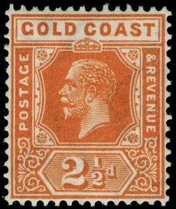 GOLD COAST SG90, 2½d yellow-orange, LH MINT. WMK SCRIPT