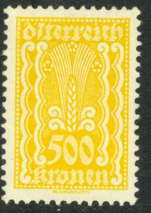 AUSTRIA 1922-24 500kr SYMBOLS OF AGRICULTURE Issue Sc 277 MNH
