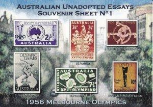 CN5) Australia set of 12 full colour Unadopted Essay sheetlets
