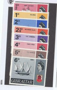 GIBRALTAR # 186-199 VF-MLH SHIPS/BOAT ISSUES CAT VALUE $49+