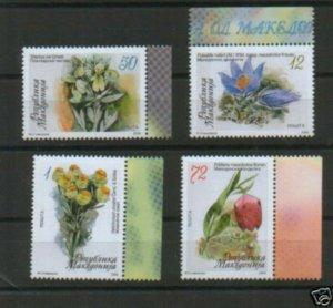 MACEDONIA-MNH** SET-FLORA-2008.