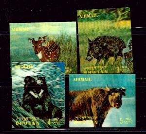 Bhutan 116 I -L MNH 1970 3-D stamps partial set