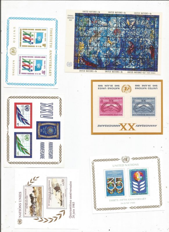 UNITED NATIONS SOUV SHEET COLLECTION, MNH