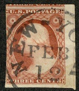 #10A  Scott CV $145  #10A VF, sheet margin at right, three huge margins,  Nice!