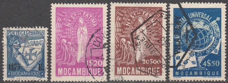Mozambique #299, 326, 328-9  F-VF  Used  CV $5.00  (A14938)