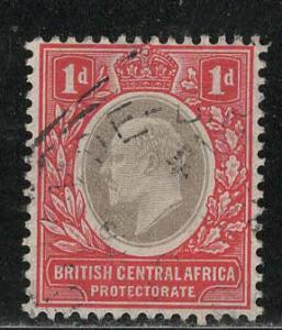 British Central Africa Scott # 60, used