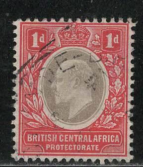 British Central Africa Scott # 60, used