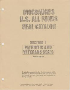 Mosbaugh's US All Funds Seal Catalog, Sections 1-11 complete, by R.C. Mosbaugh