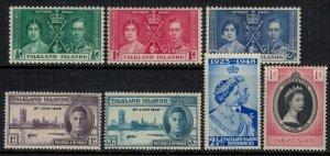 Falkland Is. #81-3,97-9,121*  CV $6.80
