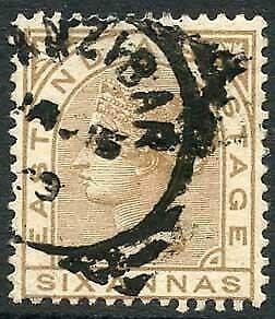 Zanzibar SGZ60 6a Pale Brown Z5 Squared Circle dated 15th Jan 1889