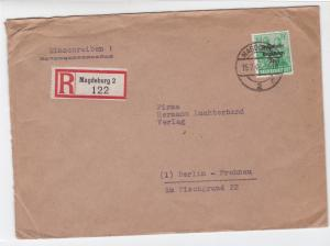 Germany Soviet Zone 1948 Magdeburg to Berlin stamps cover  R20749