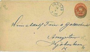 11940 - DENMARK - POSTAL HISTORY - POSTAL STATIONERY COVER from Præstø - 1879