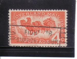 1120 - .04 Overland Mail used f-vf.