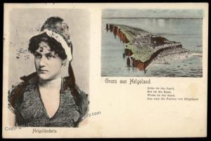 Germany Gruss Aus Helgoland Heligoland to Belgium 5pf Germania Stamp Cover 70957