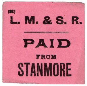 (I.B) London Midland & Scottish Railway : Carriage Paid (Stanmore)