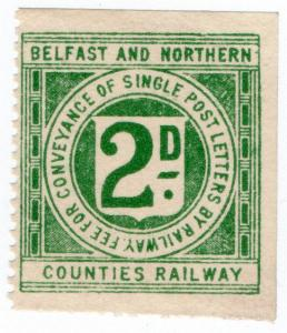 (I.B) Belfast & Northern Counties Railway : Letter Stamp 2d