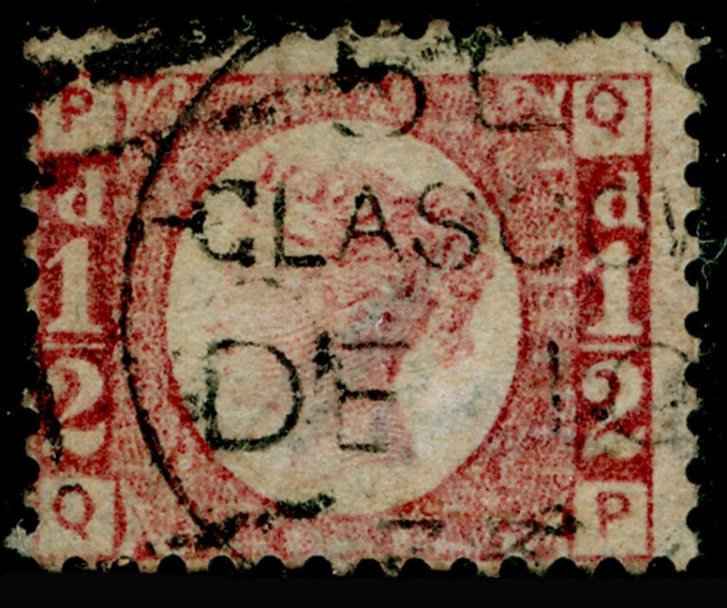 SG49, ½d rose plate 9, USED, CDS. Cat £850. QP
