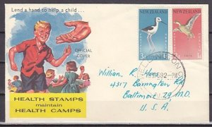 New Zealand, Scott cat. B57-B58. Local Birds issue. First day cover. ^