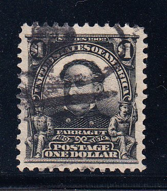 US #311 XF used lightly cancelled Gem! Tough stamp.