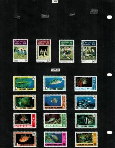 Cayman Islands 46 Stamps/1 Sheet MH/MNH (SCV $25.30) Starting at 5%