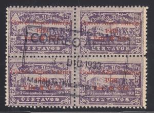 Nicaragua Sc C42 used 1932 24c on 25c violet Post Office, Central Cancel VF