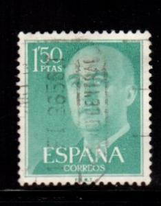 Spain - #827 General Franco 1 1/2p - Used