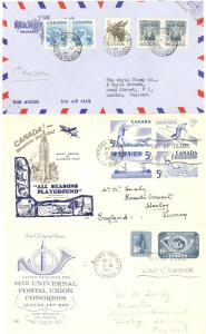 Canada  3 nice First day covers