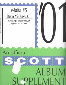 Scott Malta #5 Supplement 2001