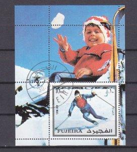 Fujeira, Mi cat. 1343, BL136 A. Innsbruck Olympics s/sheet. Canceled. ^