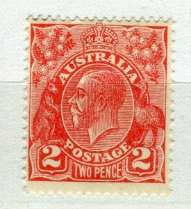 AUSTRALIA; 1931-36 early GV Head fine Mint hinged Shade of 2d. value