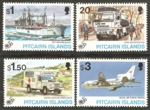 PITCAIRN ISLAND Sc# 436 - 439 MNH FVF Set-4 UN 50th Ship Airplane