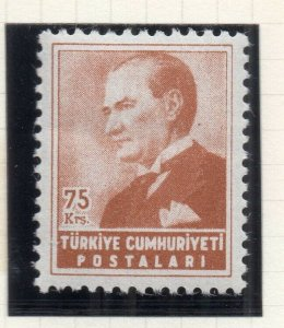 Turkey 1955 Early Issue Fine Mint Hinged 75k. NW-18216