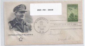 US Scott #929 First Day cover