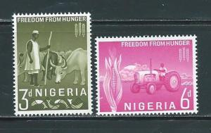 Nigeria 141-2 1963 Freedom from Hunger set NH