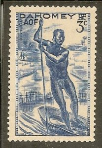 Dahomey   Scott 114  Man In Canoe   MNH
