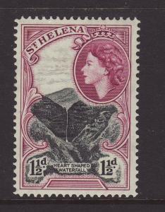 1953 St Helena 1½d Mounted Mint SG155.