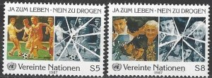 United Nations Vienna  70-1 MNH  Yes to Life, No to Drugs
