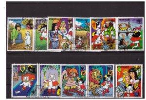 PARAGUAY 1982 Fairy Tales 7 values set CTO