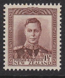 NEW ZEALAND 1938 GVI 1½d brown MNH SG cat £26...............................2941
