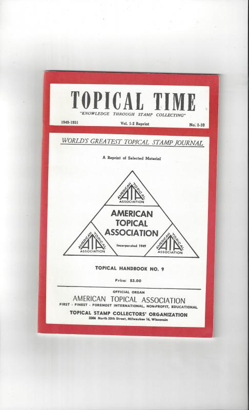Topical Time Vol 1-2 Reprint, ATA Topical Handbook #9, 1954