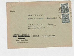 germany 1940s allied occupation stamps cover ref 18669