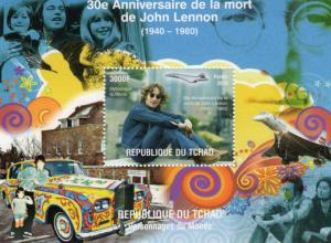 Chad 2010 Anniversary of John Lennon/Cyntia & Julian Lennon/Concorde S/S (1)