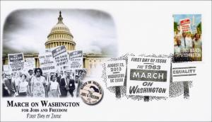 SC 4804, 2013 March on Washington, FDC, Pictorial Cancel,  Item 13-010