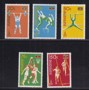 Surinam  #552-556  MNH  1980   Olympic Games Moscow