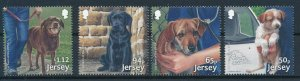 [I231] Jersey 2018 Dogs good set of stamps very fine MNH